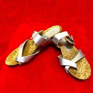 Metallic Silver Sandals